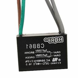 Motor Ceiling Fan Capacitor CBB61 5uf+5uf 4-Wire Rated Volta