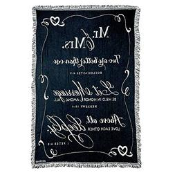 Mr. and Mrs. 1 Peter 4:8 Black and White 52 x 68 All Cotton