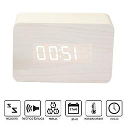 Anten Multi-function Display Wood Clock LED Digital Alarm Cl
