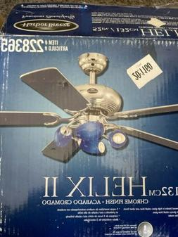 New Harbor Breeze Chrome HELIX II Ceiling Fan Replacement Pa