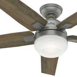 New Fan 42 inch Contemporary Matte Silver Ceiling Fan with L