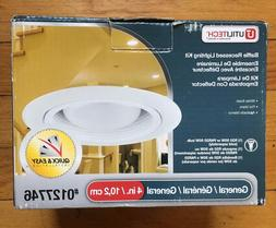 "New Utilitech baffle white 4"" recessed lighting light kit #0"