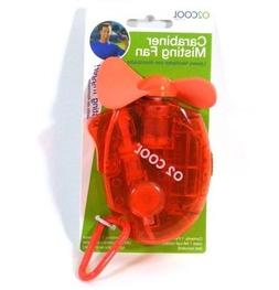 O2-Cool Carabiner Water Misting Fan, Colors May Vary