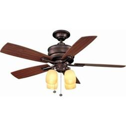 Hampton Bay Oakley 52 In. Oil Brushed Bronze Ceiling Fan