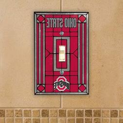Ohio State Buckeyes Light Switch Cover: Single Glass