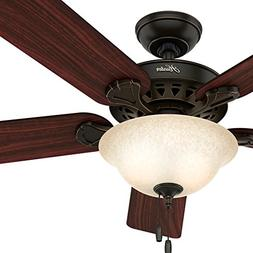 Hunter 52-inch Onyx Bengal Finish Ceiling Fan with Texture T
