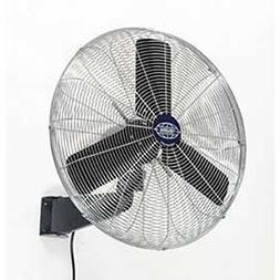 "Oscillating Wall Mount Fan, 24"" Diameter, 1/4hp, 7525cfm"