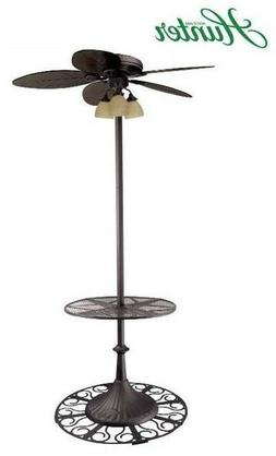 "Hunter Outdoor Stand Up ""Oasis"" Patio Ceiling Fan with Table"