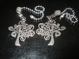 Pair Of Tree of Life Ceiling Fan, Light, Or Lamp Pull Chains