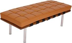 MLF Pavilion Bench . High Resilient Foam. Italian Leather. B