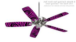 Pink Zebra - Ceiling Fan Skin Kit fits most 42 inch fans