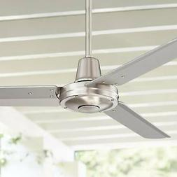 "44"" Plaza Brushed Nickel Damp Rated Ceiling Fan"