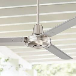 """44"""" Plaza Brushed Nickel Damp Rated Ceiling Fan"""