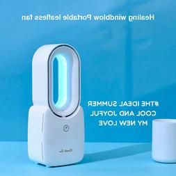 Portable Bladeless Fan Air Conditioner USB Electric Fan Mute