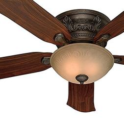 Hunter Fan 52-Inch Low Profile Roman Bronze Finish Ceiling F