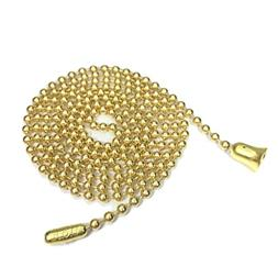 Brass Plated Stainless Steel Pull Chain for Ceiling Fan and