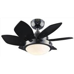 """24"""" Quince 6 Blade Ceiling Fan Finish: Gun Metal with Black/"""