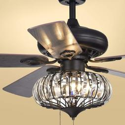 """Retro Tiffany 52""""Reversible Ceiling Fan Living Room Home Cry"""