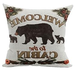 Andreannie Retro Vintage Background Wildlife Black Bear Fami