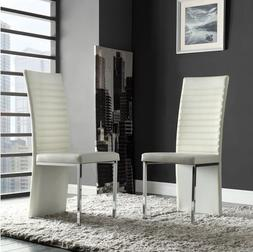Reynold White Metal and Plastic Sleek Modern Contoured Conte