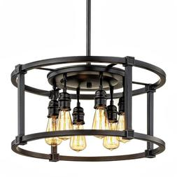Home Decorators Collection Romaro Row 6-Light Aged Bronze Di