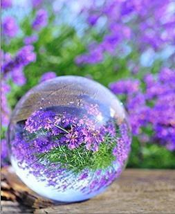 Hdecor 2.4inch Round Glass Artificial Crystal Healing Ball S