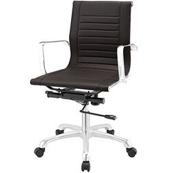 Modway Runway Mid Back Office Chair, Brown