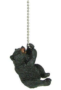 Rustic Black Bear Ceiling Fan Pull