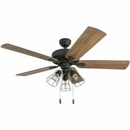 rustic ceiling fan with lights farmhouse light