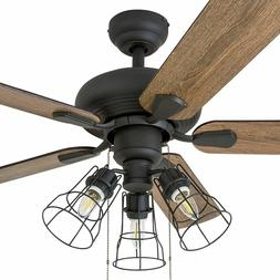 Rustic Ceiling Fan with Lights LED Chandelier Farmhouse Ligh