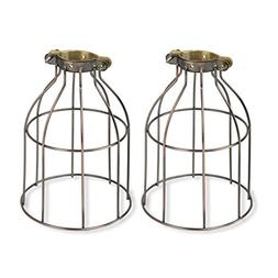 Rustic State Industrial Vintage Style Curved Top Light Cage