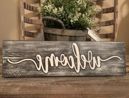 Rustic Wood Sign WELCOME Sign Door Country Home Decor Porch