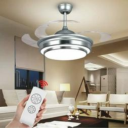 Modern Ceiling Fan Lights Invisible Blades and Remote Contro