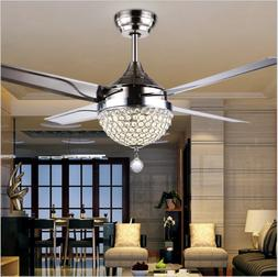 Modern Ceiling Fan Lamp Remote Control Chandeliers Pendent L