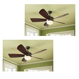 Set of 2 Harbor Breeze Saratoga 60-in Oil-Rubbed Bronze Down