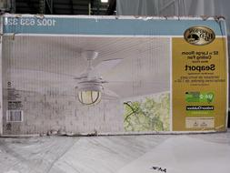 Hampton Bay. Seaport 52 in. Indoor/Outdoor White Ceiling Fan