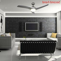 Secondhand Ceiling Fan w/ LED Panel Light&Remote Control Sil