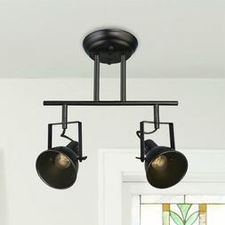 LALUZ Semi Flush Mount Adjustable Track Lighting 2-light Cei
