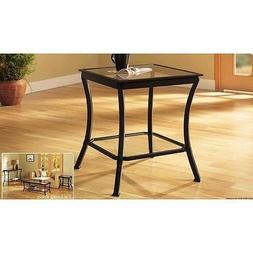 Mendocino Side & End Table, Metal & Glass Side Accent Living