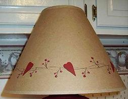 Simply Hearts and Berries Vine Brown Oiled Craft Lampshade
