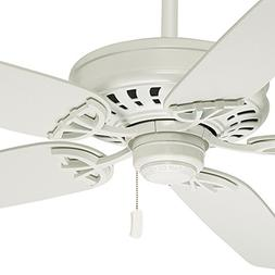 "Casablanca 54"" Snow White Finish Ceiling Fan with 5 Matte Sn"