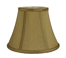 Urbanest Softback Bell Lampshade, Faux Silk, 5-inch by 9-inc