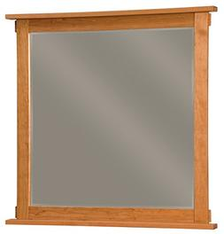 "Amish Heirlooms Solid Cherry Bungalow Mirror, 2"" x 41.5"" x 4"
