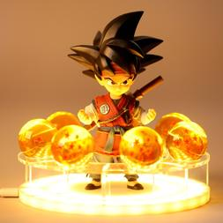 Son Goku Table Lamp Spirit Bomb Dragon Ball Z LED Night <fon