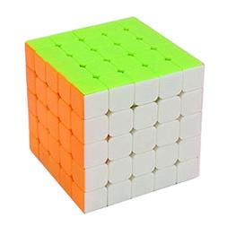 HJXD 5x5x5 Stickerless Magic Cube 2.5 Inch Pink
