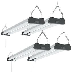 Sunco 4 Pack Industrial LED Shop Light Frosted 40W 6000K 400