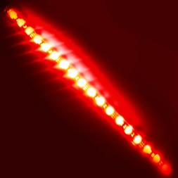 Super Bright 1ft  RED Waterproof Flexible LED Strip Lights -
