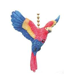 TiKi Tropical Macaw Parrot Bird Ceiling Fan Light Pull
