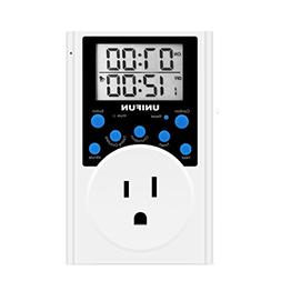 Timer Outlet, UNIFUN Infinite Cycle Programmable Plug-in Dig