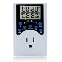Timer Switch Outlet, FEELLE Digital Programmable Plug-in Tim